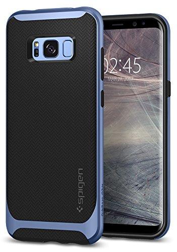 Spigen [Neo Hybrid Samsung Galaxy S8 Hülle (565CS21598) 2-Teilige Handyhülle mit Modischem Muster TPU Schale und PC Rahmen Schutzhülle Case (Blau)