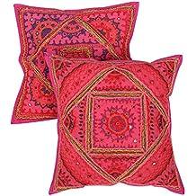 Fundas indios Room Decor bordado con la cubierta del amortiguador Espejo Rosa