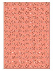 Ursus 60950004 Silhouetten - 10 Hojas de cartulina fotográfica, 300 g/m², Aprox. 23 x 33 cm, para decoración, Paquete de Regalo y diseño de Tarjetas, Coral