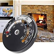 Dchaochao termómetro para estufa magnética, tubo de fuego, quemador de leña, termómetro de