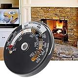 Dchaochao Thermometer für Rauchgasrohr mit magnetischem Ofen, Multi Fuel Woodburner Ofenrohr-Thermometer 100~900
