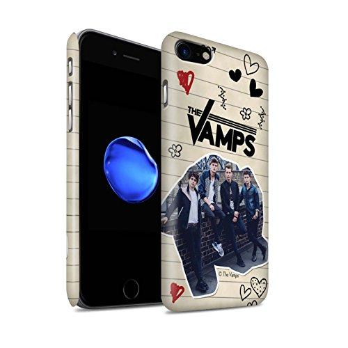 Officiel The Vamps Coque / Clipser Matte Etui pour Apple iPhone 8 / Stylo Noir Design / The Vamps Livre Doodle Collection Stylo Noir