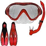 Tauchset Dunlop mit Farb- und Größenauswahl - Schnorchel Set - Tauchermaske - Schnorchel -...