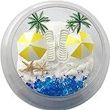 musykrafties Kunststoff Sommer Strand Stühle mit Sonnenschirmen Aquarium Terrarien Miniatur Garden Fairy Gardens Puppe