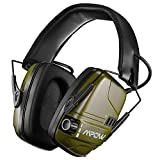 Mpow 094 Orejeras de Tiro Electrónico con SNR 26dB, Orejeras Proteccion auditiva con Batería Recargable, Amplificación de Sonido Estéreo con Dual Mic, Orejeras Electronicas para Cazar y Tirar