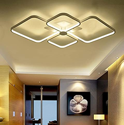 LED Iron Acrylic Butterfly Knot Ceiling Lamp Modern Simplicity LED L80CM W 52CM 60W Bedroom Living Room Restaurant