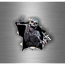 Stickers tete de mort for Autocollant mural francais