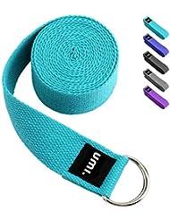 Amazon Marka: Umi. Essentials - Cinturón para yoga con libro electrónico de regalo, 2,4 m (azul cielo)