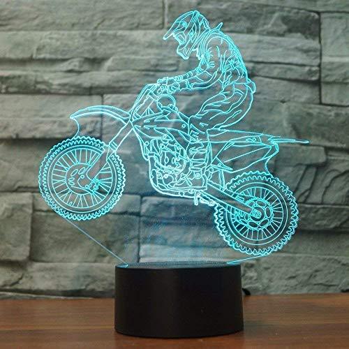 3D Sport Motorrad Illusions LED Lampen Tolle 7 Farbwechsel Tabelle Schreibtisch-Nacht licht USB-Kabel für Kinder Schlafzimmer Geburtstagsgeschenke Geschenk【7 bis 15 Tage in Deutschland angekommen】 (Skateboard-kopfhörer)