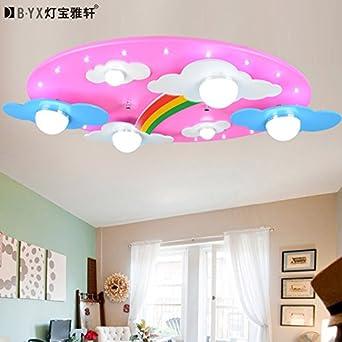 childrens room lighting. lterd warm blue pink clouds rainbow childrenu0027s room lighting led ceiling lamp cartoon bedroom ideas childrens i