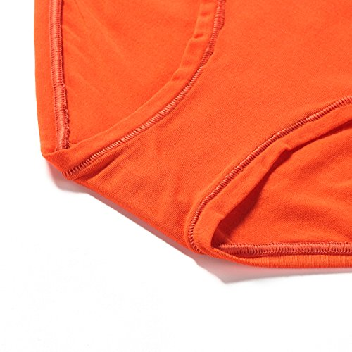 Lapasa Damen Slip, 2er Pack Baumwolle Bikini Slips, 13 Farben, Low Schnitt, Ultra Soft, Women Cotton Underwear, Damen Baumwolle Alltags Hüftslip Panty Unterhose, Weich, L004 Rotorange