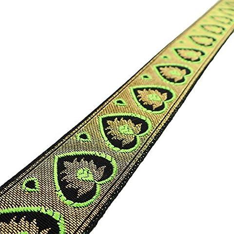 Jacquard gestickte Ordnungs-Fertigkeit-Band 3,3 cm breit Sari Border By The Yard
