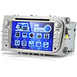 """7 Inch Screen Car DVD Player """"Blunt"""" - For Ford Focus 2009-2012, 1080p, GPS, Bluetooth (2 DIN) (importado)"""