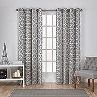 exclusiva casa cortinas cressy geomtrico textura de lino de jacquard y ojal en la parte superior - Cortinas Lino