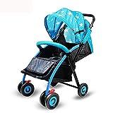 Shisky Sitzbuggys, Kinderwagen,Kinderwagen, die Erweiterung Falten erweitert kann sitzen und liegen Vier Rad Kinderwagen 66 * 56 * 100 cm