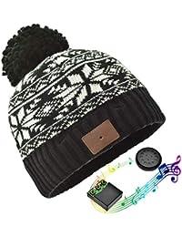 JIANYIJIA Auriculares Bluetooth Gorra,Bluetooth Beanie Hat Gorro de Punto  Unisex con Altavoz Estéreo Auriculares cbafdd6f70c