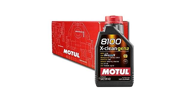 Motul 8100 X Clean Gen2 5w40 Dexos2 4x 1 Litre Auto