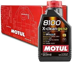 Autoöl Motul 8100 X Clean Gen2 5w40 Dexos2 6x 1 L Auto