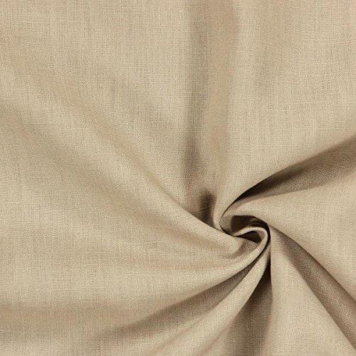 nenstoff mittelschwer, beige - Leinenstoffe zum Nähen von Leinenhosen, Freizeithemden, Leinenkleider und natürliche Dekoration - Meterware ab 0,5m ()