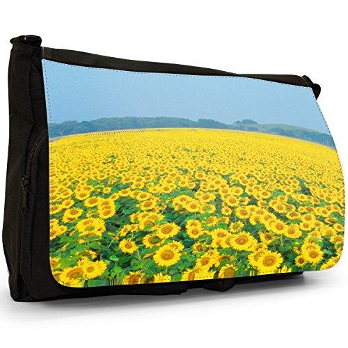 Fancy A Bag Borsa Messenger nero Sunflowers Fields Sunflowers Fields