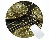 Yanteng Tappetino per Mouse Rotondo da Gioco, Dollar Bitcoin Paper Dollar Tappetino per Mouse Rotondo da Gioco Personalizzato con rettangolo