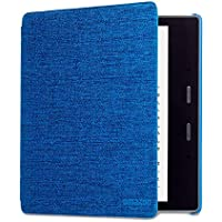 Kindle Oasis Water-Safe Fabric Cover, Blue — Compatible with 9th (2017 release) and 10th generation (2019 release)