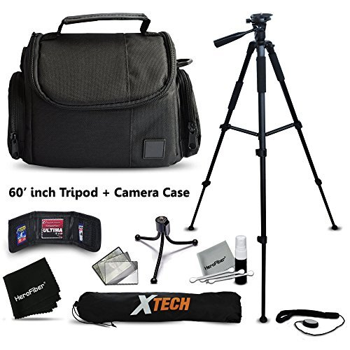 Premium Well Padded Camera CASE BAG and Full Size 60 inch TRIPOD Accessories KIT for Canon POWERSHOT SX60 HS SX50 HS SX530 HS SX520 HS SX410 IS SX610 HS SX710 HS SX400 IS G7 X G1 X G1 X Mark II G1 X G15 G16 SX520 HS SX600 HS SX700 HS SX510 HS D30 D20 SX500 IS S200 S120 N N100 SX50 HS SX40 HS SX280 HS SX270 HS SX260 HS A2500 A1400 A3500 IS S110 SX170 IS SX160 IS SX500 IS A810 A1300 A2300 A2400 IS A3400 IS A4000 IS SX240 HS SX260 HS Digital Cameras  available at amazon for Rs.7379