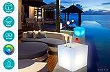 Sommer-Set Leuchtende led Cube/Hocker 40 cm 16 Farben innen und außen, kabellos