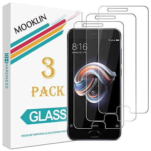MOOKLIN Panzerglas Bildschirmschutzfolie für Xiaomi Mi Note 3, 9H Härte, Anti-Kratzen, Anti-Bläsche, [3 Stück]