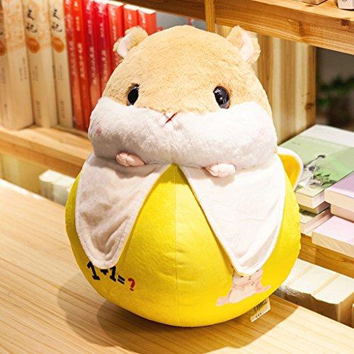 WYQLZ Dessin animé Hamster Fruit Hold Oreiller Bureau à domicile Lovely Sofa Cushion ( conception : Banana , taille : 50 cm )