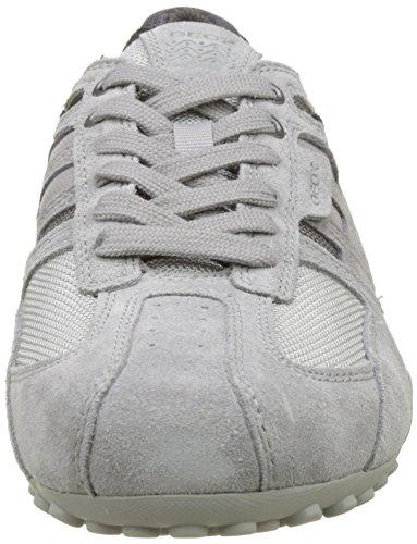 Geox Snake e, Sneaker Uomo Grigio (Lt Grey/stone)