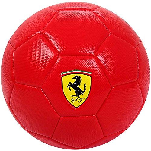 Mesuca Ferrari 024245, Fußball PVC Unisex Kinder, Rot/Gelb/Schwarz/Weiß, 5
