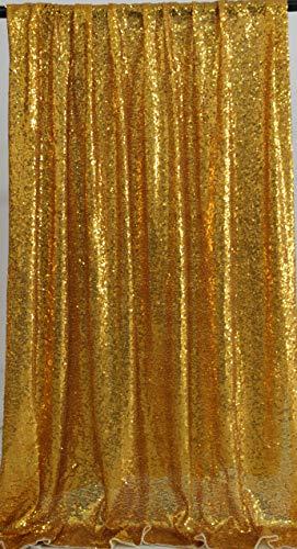 Kate Foto Hintergrund Gold gelb Pailletten Foto Stand Bühne Requisiten wunderschöne Flash Hintergrund Fenster Display Hintergrund Dekoration 4x7ft / 1.25x2.2m - Foto Stand Hintergrund