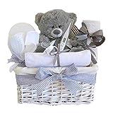 Shimmer Weidenkorb Unisex Baby Geschenk/Baby-Geschenkkorb/Baby Dusche Geschenke/New Arrival Geschenk/Schwangerschafts-Geschenk/Unisex Baby/Taufe Geschenk/Korbdekoration Schnell Versand