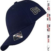 88-FLEX Gorra de Béisbol Para Hombre Mujer - Regalo Llavero - El Mejor Baseball CAP Flex Fit Strech Back Para Un Perfecto Apoyo - Algodón - Nueva Classica Modelo Urban Moda Vintage Trucker - Azul