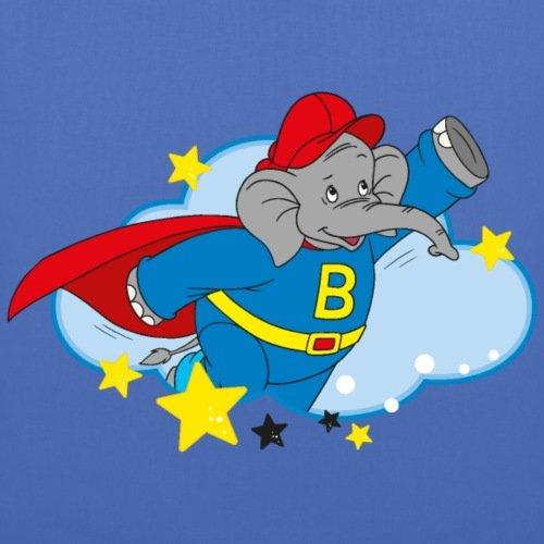 Spreadshirt Benjamin Blümchen Superheld Beni Mit Cape Stoffbeutel Hellblau