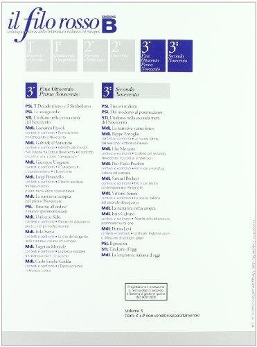 Il filo rosso. Antologia e storia della letteratura italiana ed europea. Con materiali per il docente. Per le Scuole superiori: 3 (Collezione scolastica)