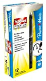 PaperMate Replay Premium, stylo gel effaçable, pointe moyenne 0,7mm, noir, lot de 12