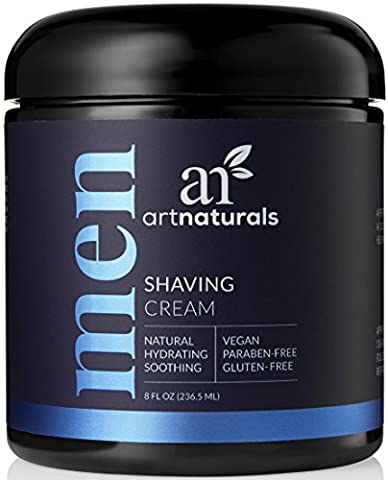 ArtNaturals Men's Natural Shaving Cream - 236 ml - Natural, Hydrating and Soothing - Great for Sensitive Skin - Formula is Antimicrobial, Anti-inflammatory, Antifungal and