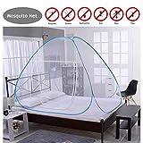 ZTXY Moskitonetz-Betthimmel Faltbares Moskitonetz mit Bodennetz für Doppelbetten Freistehende Kinder Erwachsene 150 * 200 * 150cm