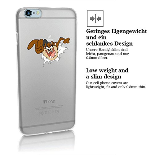 Custodia rigida looney tunes taz serie 2 iPhone - TAZ Aggressivo, Iphone 5/5S TAZ SALTI RAUS
