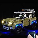 Rolanli Kit di Illuminazione a LED, Kit Luci LED per Lego Land Rover Defender 42110(Solo LED Incluso, Nessun Kit Lego) - Versione RC