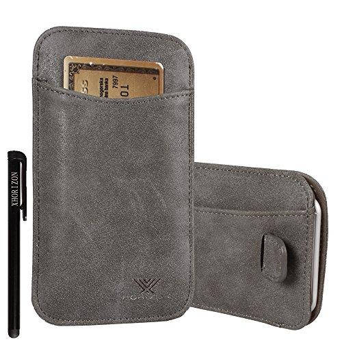 xhorizon® Modisch Luxus Scheuern Leder Tasche Haken Schleife Beutel Halfter Kreditkarteninhaber Case Hülle Präziser DesignPassen für iPhone 4 4S mit Ein Stift und Ein Reinigungstuch #7