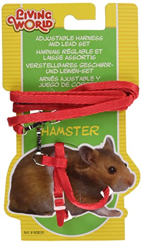Living world Harnais et Laisse Hamster Rouge