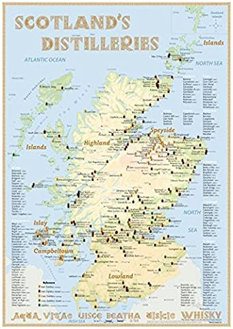 Whisky Distilleries Scotland - Poster 42x60cm Standard Edition: The scotisch
