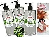 Sapone Terapeutico Tea Tree Olio (albero del tè) 3 X 200 ml - Gel Doccia Azione antimicotica-antibatterica Shampoo Pidocchi bambini Sapone Anti Acne