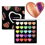 Sombras de Ojos Mate Cosmético Maquillaje Paleta Shimmer Set, KRABICE 25 colores ahumado pigmento Maquillaje Contorno impermeable Make Up Natural paleta de sombra de ojos Kit - #2