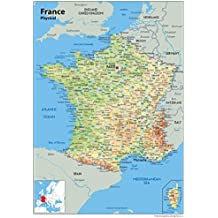 Carte Alsace Plastifiee.Amazon Fr Carte France Poster