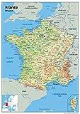 A1Papier laminé France Carte Physique [GA]...