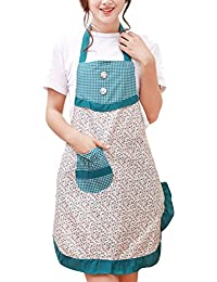 Zhhlinyuan Prima Multi-color Womens Apron with Pocket, Vintage Floral